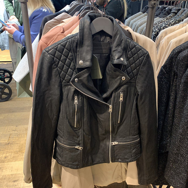 ALLSAINTS Catch Biker Leather Jacket Black - WL047N * £200