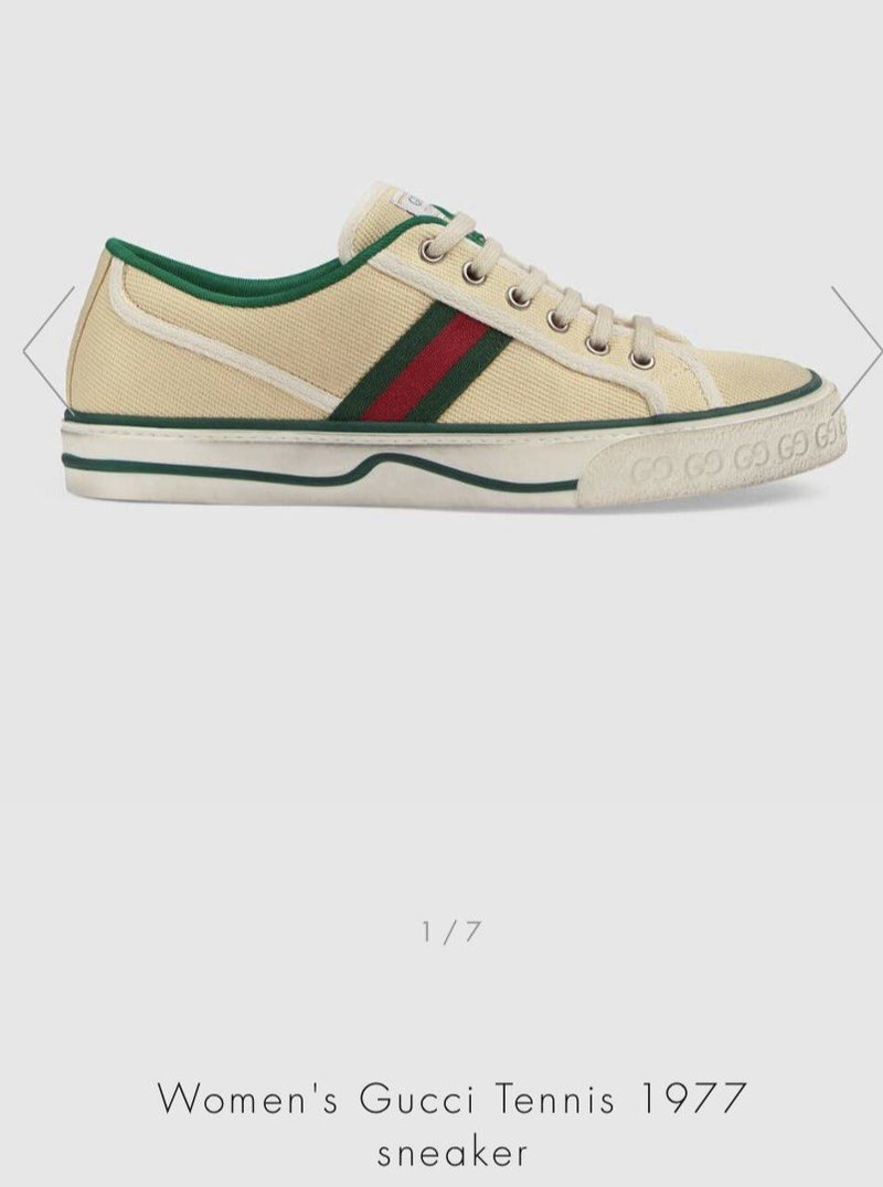 Gucci Women's Gucci Tennis 1977 Sneaker - 606110 * £435