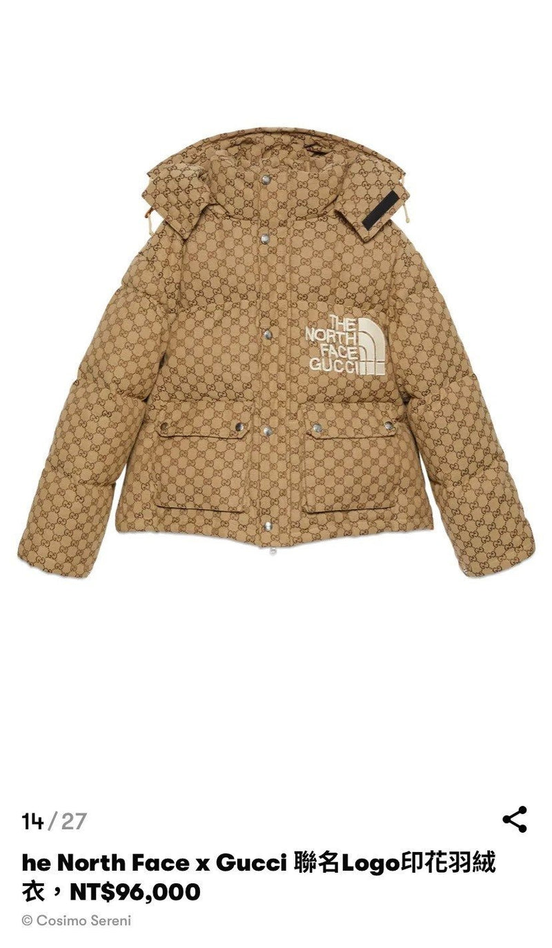The North Face x Gucci Down Jackets - 貨號待補 * £1950