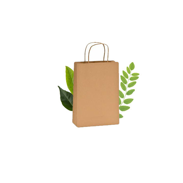 Thriftypak with Compostable  Twist Handles 140gsm (125 Per Pack)