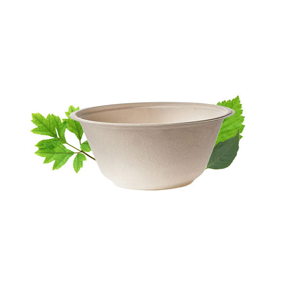 Biodegradable 350ml  Bowl - Bagasse (50 Per Pack)