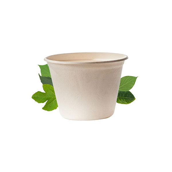 Biodegradable 500ml Noodle Bowl -  Bagasse (50 Per Pack)
