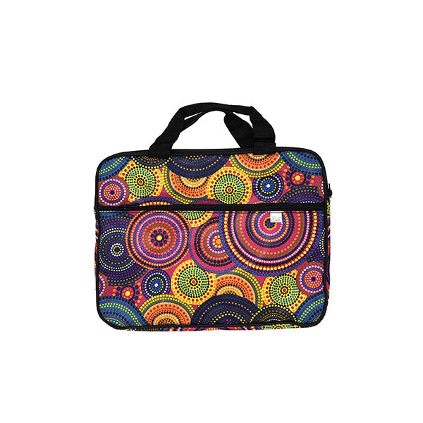 Upcycled Funky Rainbow Print Laptop Bag