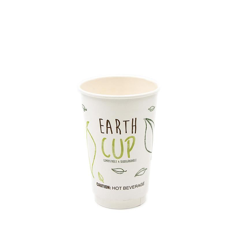 500ml Biodegradable Double Wall Coffee Cup [Earth Cup] (25 Per Pack)