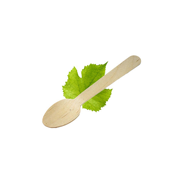 Wooden 140mm Spoon (100 Per Pack)