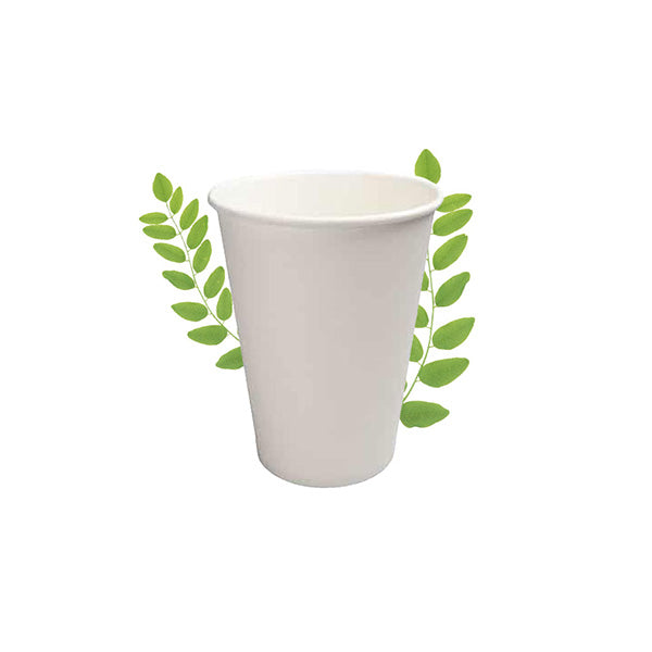 350ml Plain White Double Wall Hot Cup (25 Per Pack)