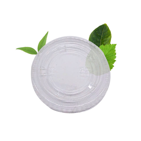 PLA Multi-fit Lid - Fits 30ml/59ml/90ml Portion Cups (100 Per Pack)