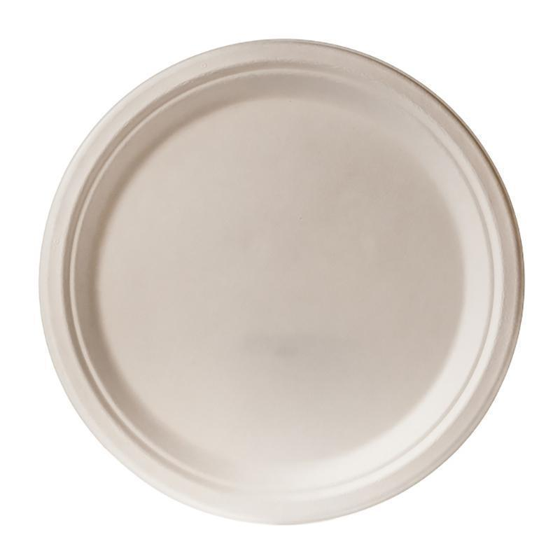Biodegradable 26cm Round Plate - Bagasse (50 Per Pack)