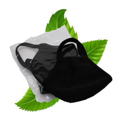 Black fabric face masks - High Quality , reuseable with ear loops