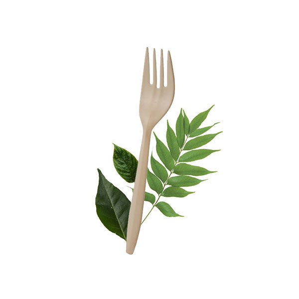 Cornstarch Fork 150mm (100 Per Pack)