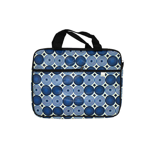 Upcycled Funk Blue Wheel Laptop Bag
