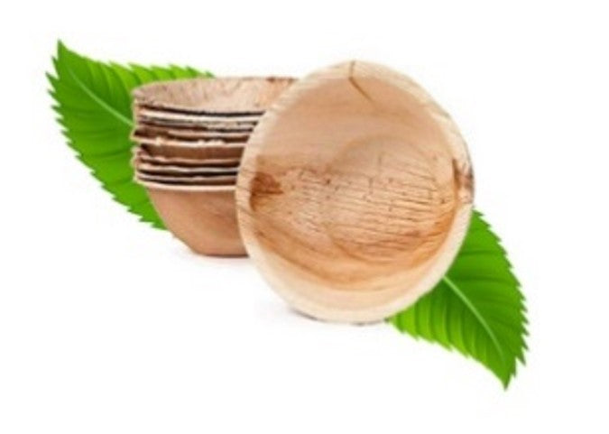 15cm Palm Leaf Round Deep Bowl (pack of 6)