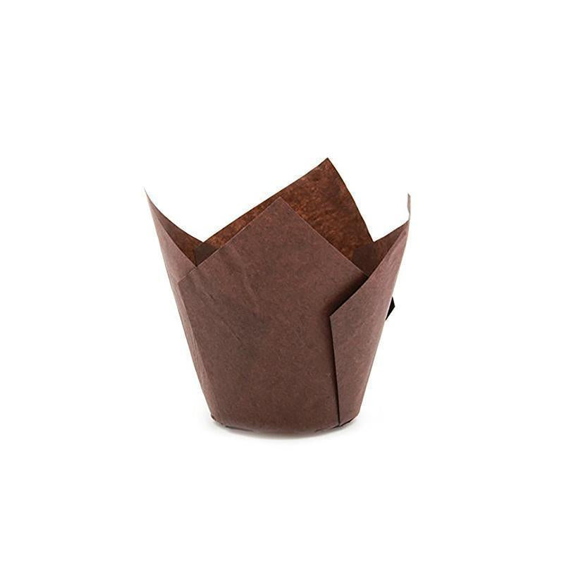 Brown Tulip Muffin Cup (Pack of 300)