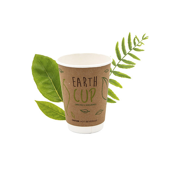 350ml Kraft Double Wall Hot Cup [Earth Cup] (25 Per Pack)