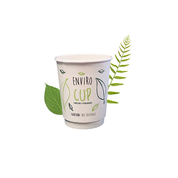 250ml Biodegradable Double Wall Coffee Cup [Enviro Cup] (25 Per Pack)