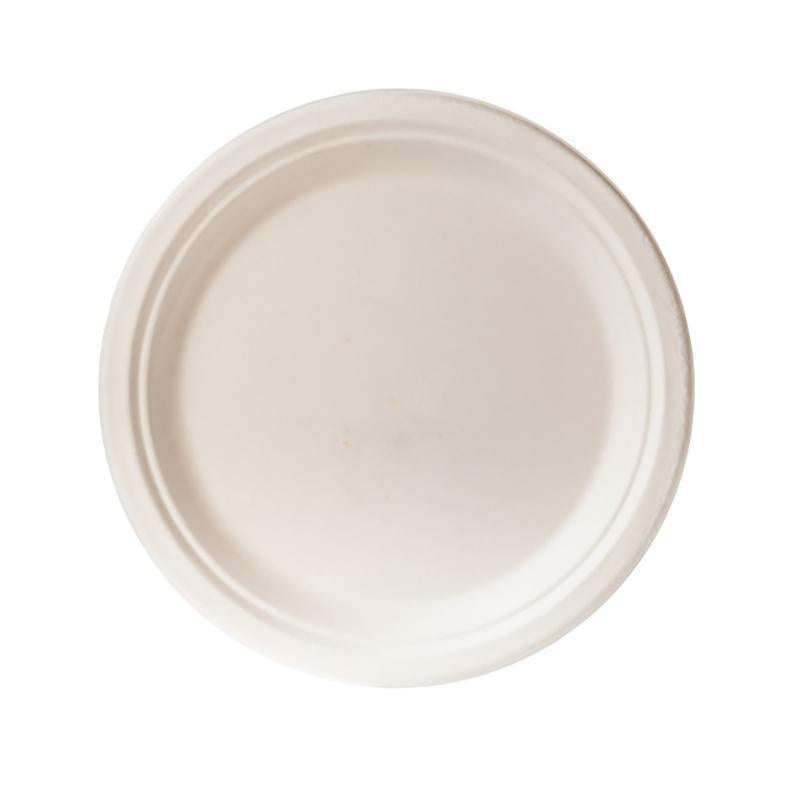 Biodegradable 23cm Round Plate - Bagasse (50 Per Pack)