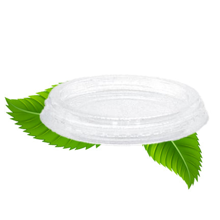 Flat PLA Multi-fit Portion Cup Lid - 76mm (50 per pack)