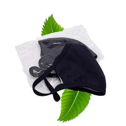 Navy fabric face masks - High Quality , reuseable with ear loops