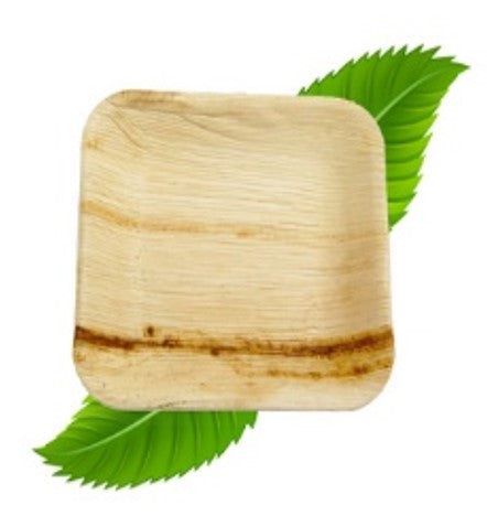 20cm Palm Leaf Square Side Plate  (pack of 6)