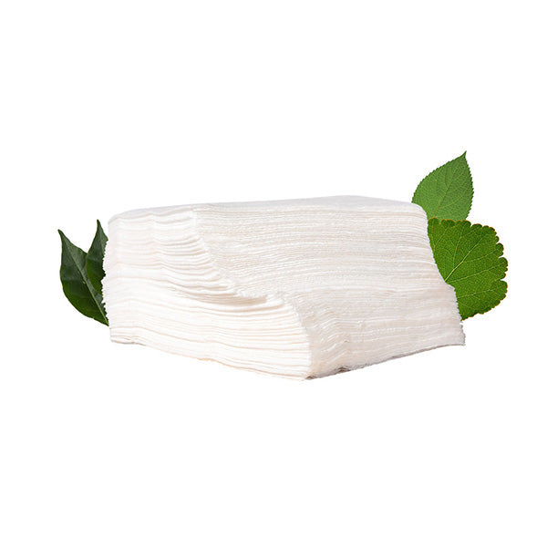 Biodegradable 1 Ply White Serviette Pack - 300 x 300 (100 Per Pack)