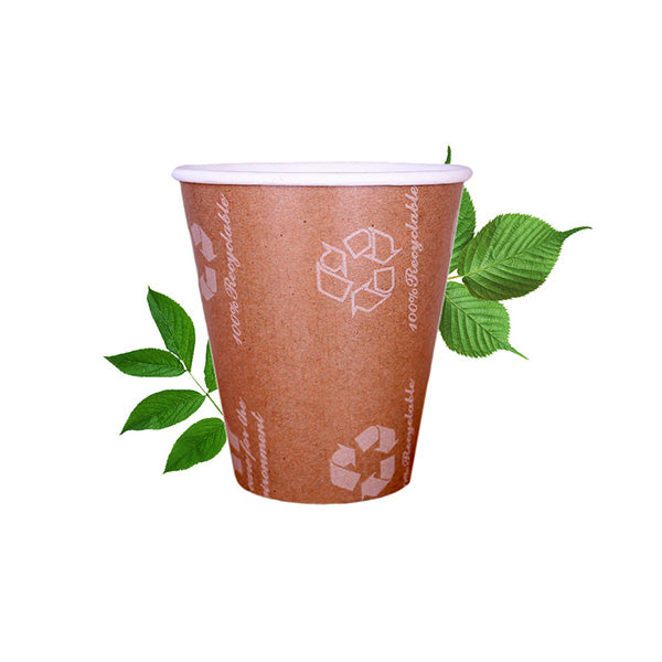 350ml Triple Wall Recyclable Kraft Cup  (25 Per Pack)