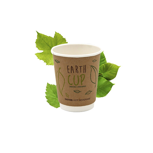 250ml Kraft Double Wall Hot Cup [Earth Cup] (25 Per Pack)