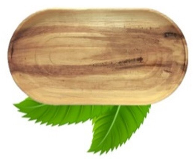 56cm Palm Leaf Oval Platter (sold individually)