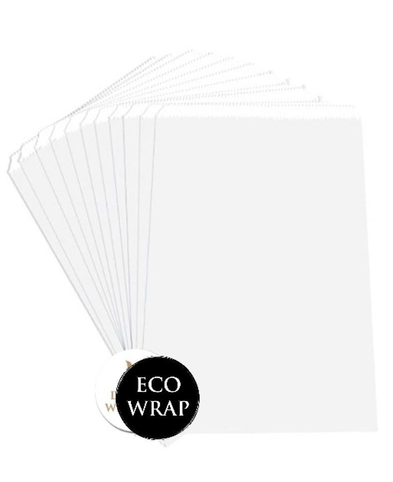 BAGS SMALL - Plain White paper bags (PACK OF 50)