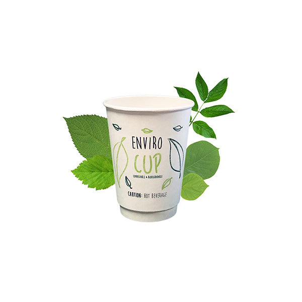 350ml Biodegradable Double Wall Coffee Cup [Enviro Cup] (25 Per Pack)