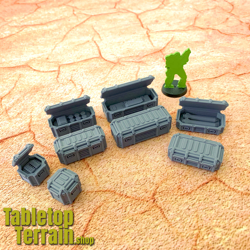 Set of 8 Military Flight Cases and Inserts