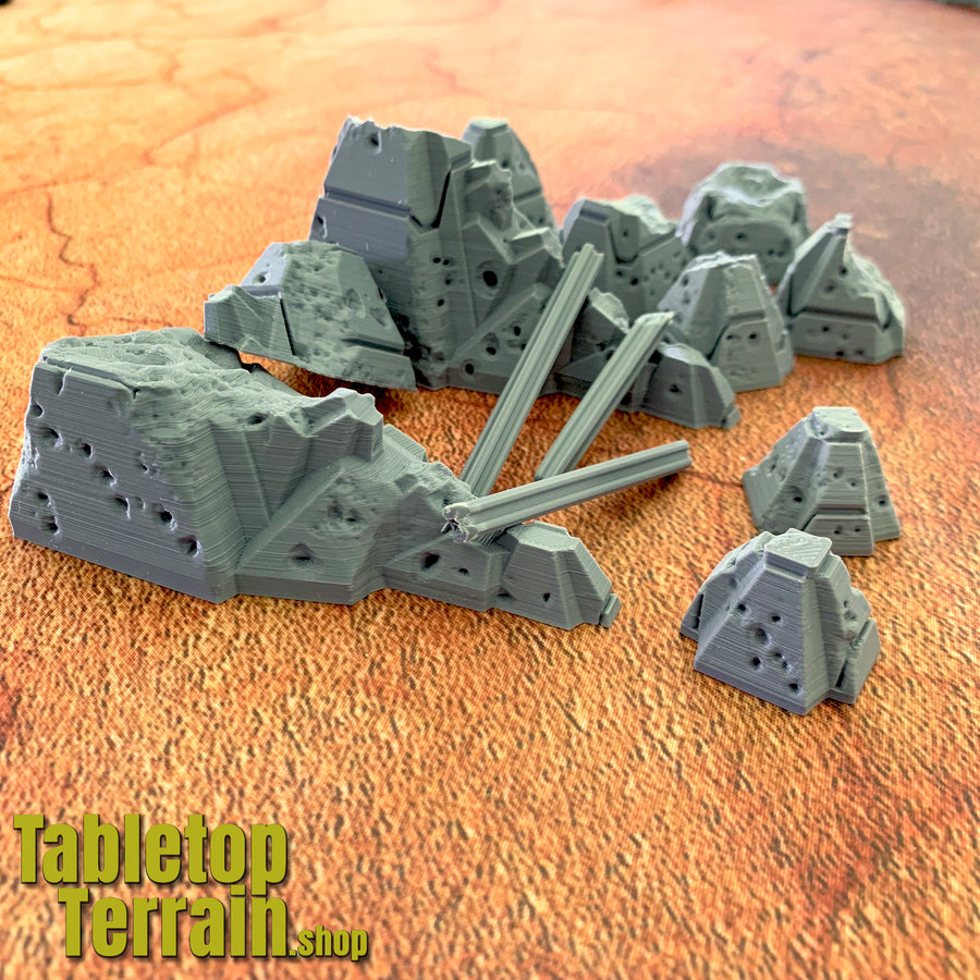Damaged Tank Trap Set