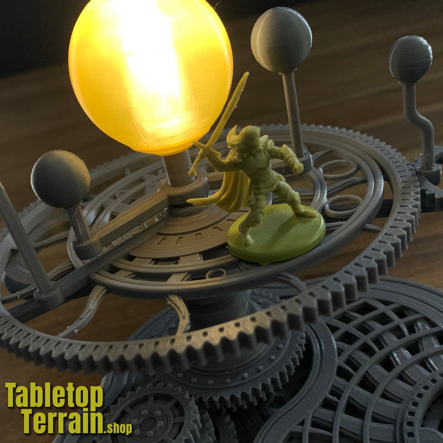 The Orrery - A Mechanical Planetarium Model