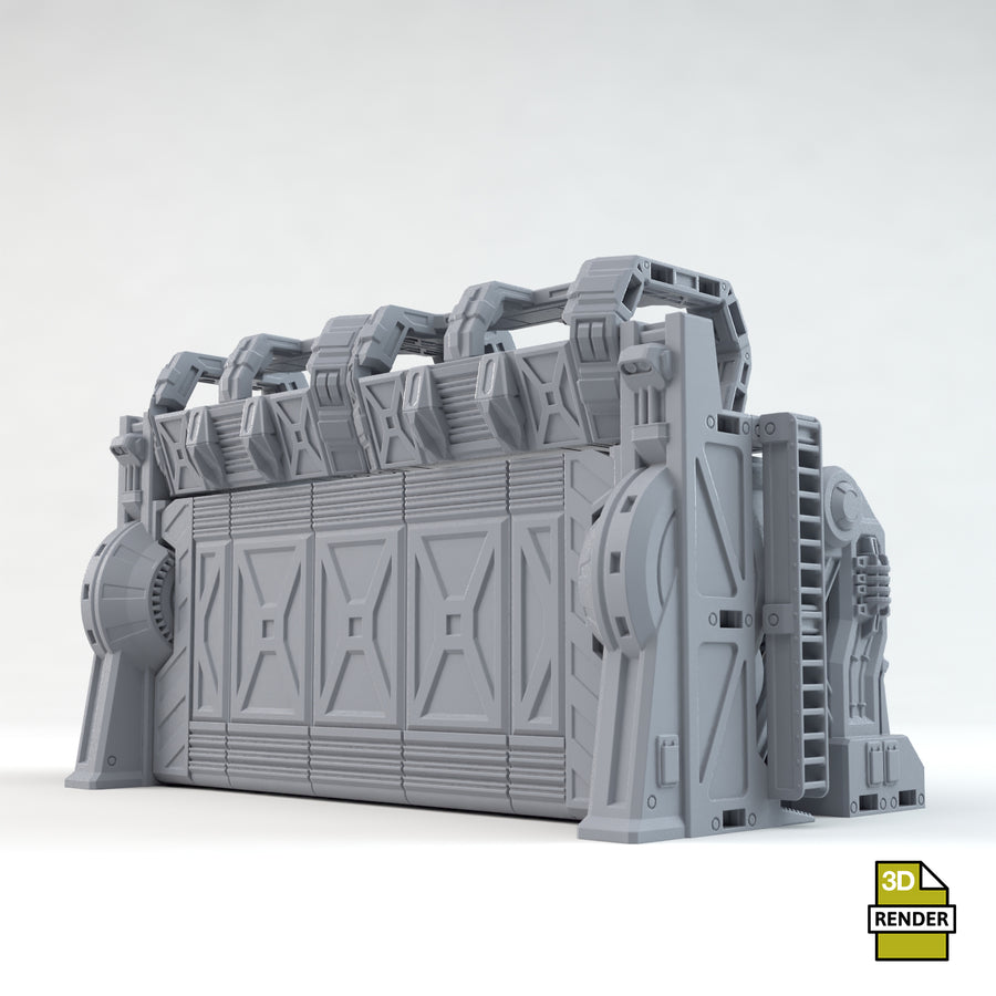Sci-Fi Outpost Armoured Gate