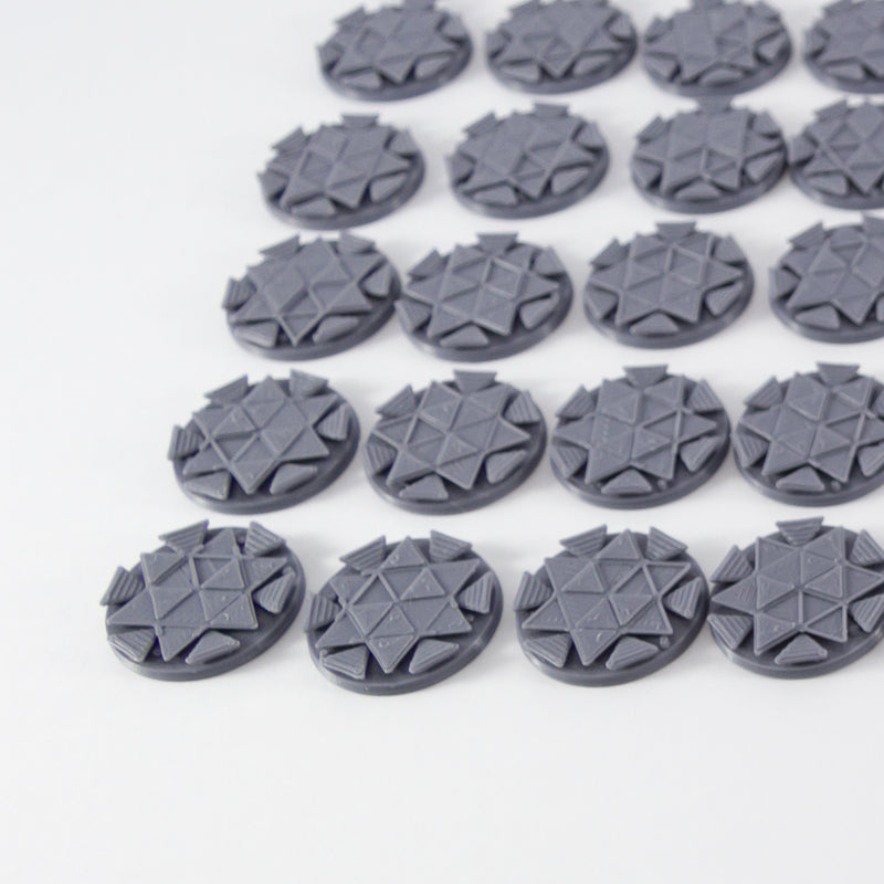 Set of 65 Bases Suitable for Blackstone Fortress 28mm Miniatures