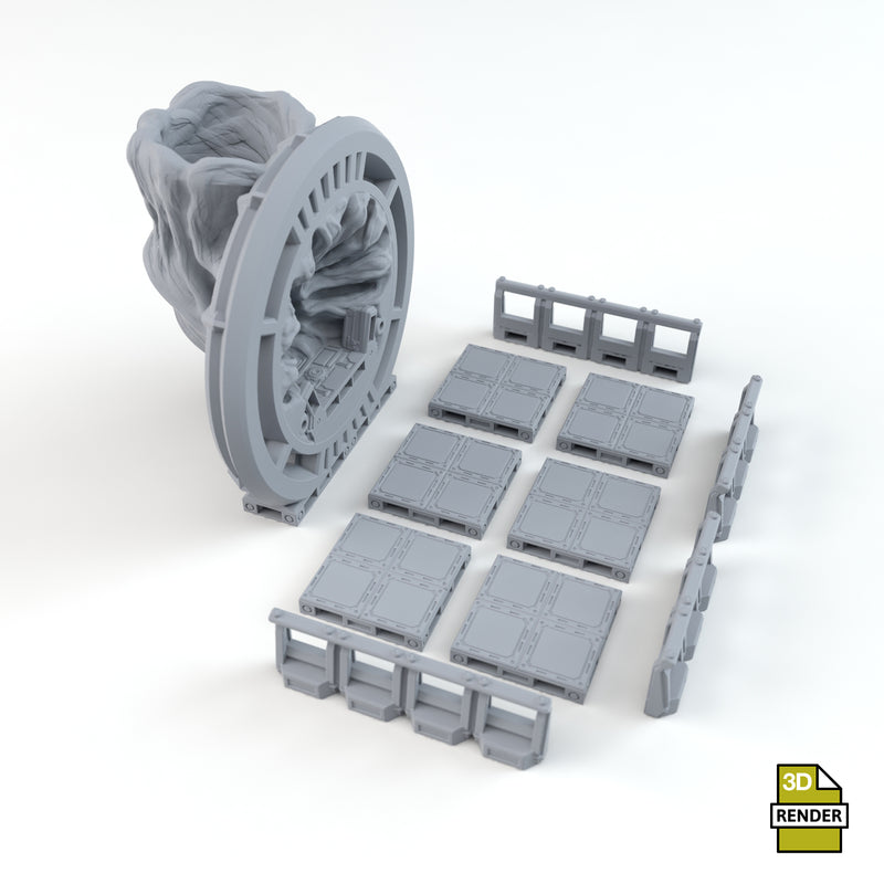 Warp Gate Generic Dice Tower Parts