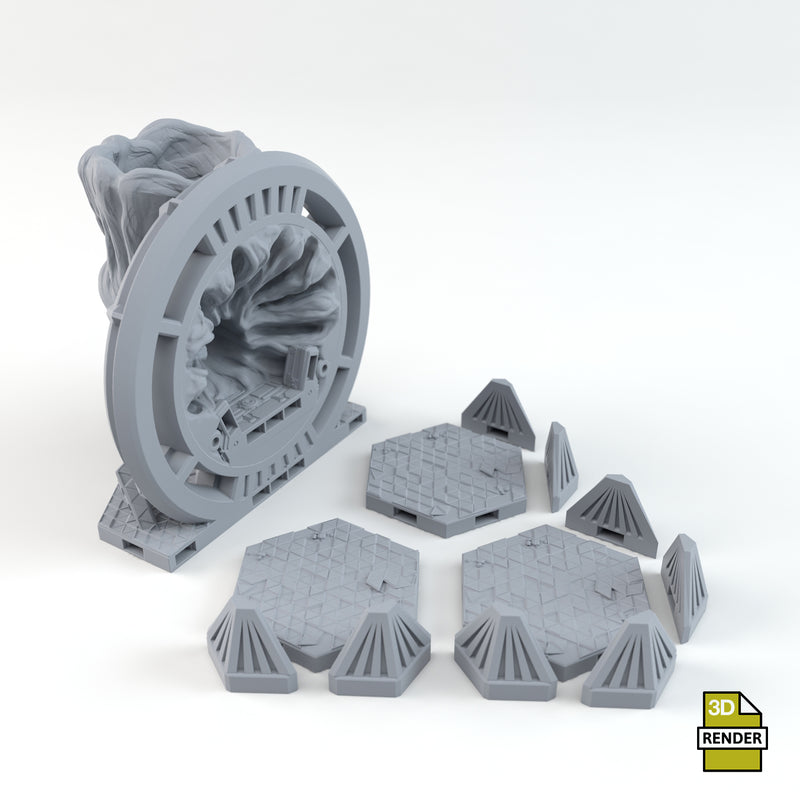 Warp Gate Trihex Tile Dice Tower Parts