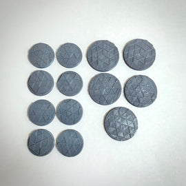 Set of 13 Bases Suitable for Escalation 28mm Miniatures