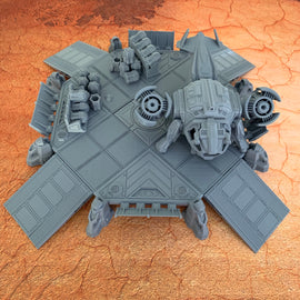 Sci-Fi Landing Pad and Dropship Bundle
