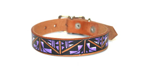 Hand-Painted Leather Collars