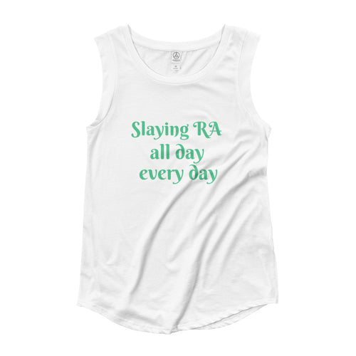 Slay RA all day everyday (Ladies' Cap Sleeve T-Shirt)