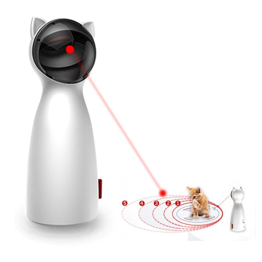Cat Toy Automatic, Interactive Laser Toy for Kitten Dogs-SolHoppa-SolHoppa