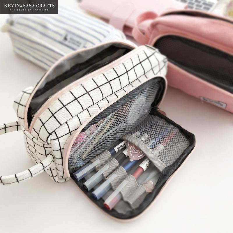 Pen/Pencil Bag Case-Solhoppa-Pink Lattice-SolHoppa