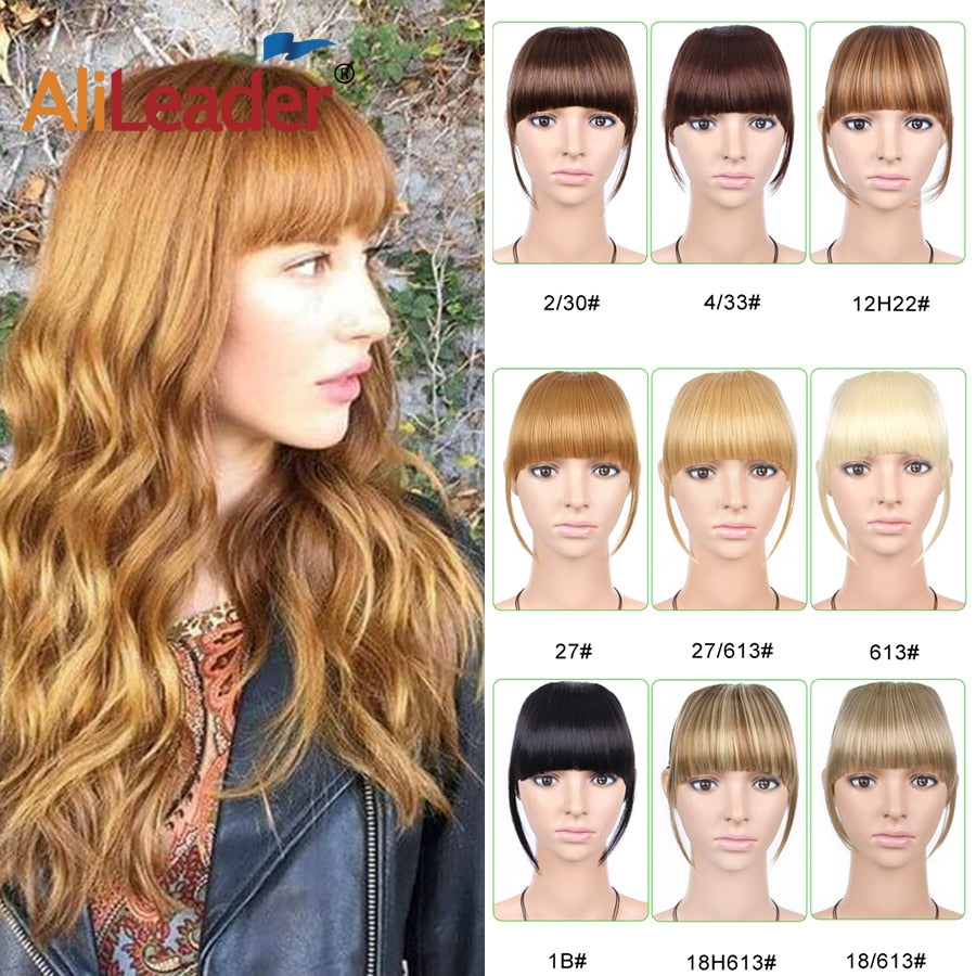 Clip in Bangs Extensions-Solhoppa-#1-6inches-SolHoppa