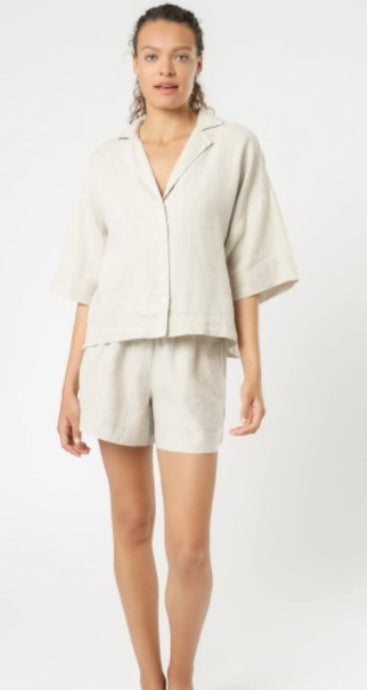 Nude Lucy Nude Linen Lounge Shirt Natural