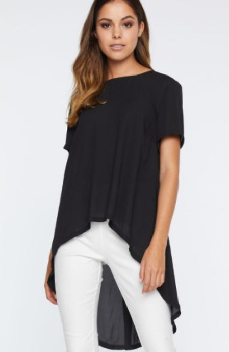 IDS Waterfall Tail Top Black
