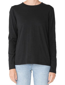 Nude Lucy Ava Long Sleeve Tee Black