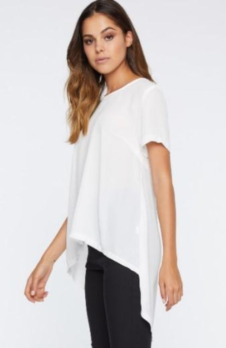 IDS Waterfall Tail Top White