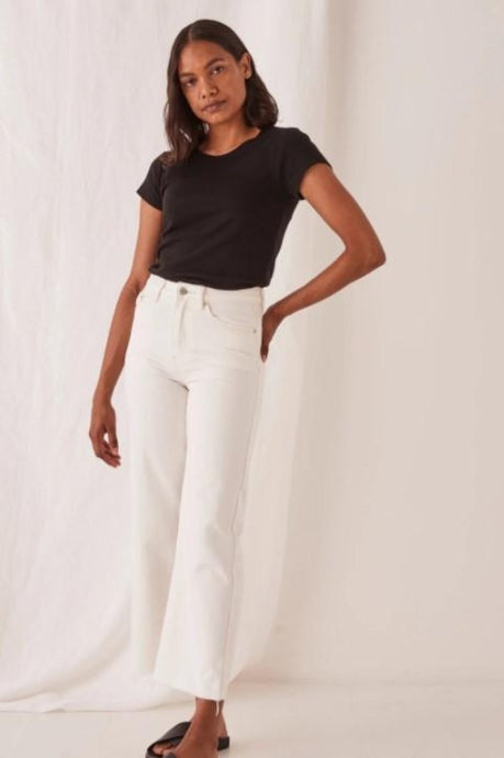 Assembly Label High Waist Flare Jean Vintage White