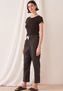 Assembly Label Anya Linen Pant Black