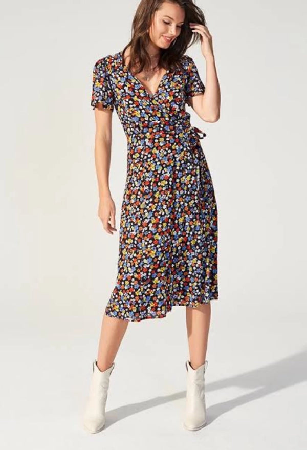 Minkpink Belle Flower Midi Dress Multi